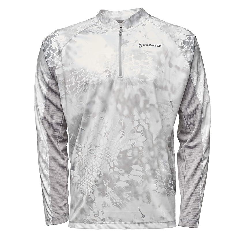 Kryptek Zephyr Long Sleeve 1/2 Zip Camo Hunting & Fishing Shirt (K-Ore Collection)