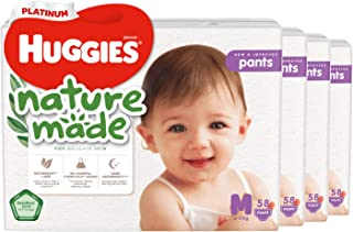 Huggies Platinum Naturemade Pants M 58s, 174 count (Pack of 3)
