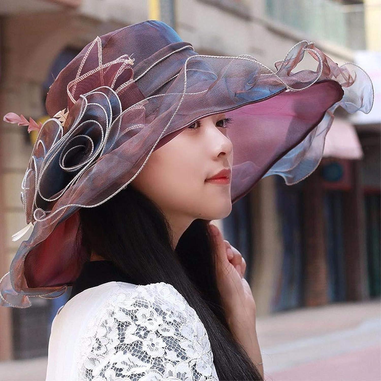 Dingkun Hat the girl thin, breathable snow spinning cap gorgeous flowers visor sun hat beach hat sun hat new