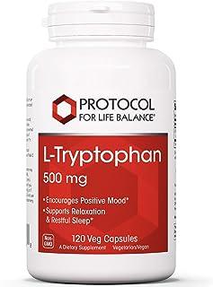 Protocol For Life Balance - L-Tryptophan 500 mg - 120 Veg Capsules