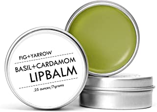 FIG+YARROW Organic Basil + Cardamom Lip Balm