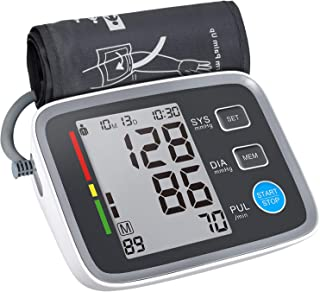 ALPHAGOMED Blood Pressure Monitor Cuff Upper Arm, Automatic bp Cuff with Large Cuff, high Blood Pressure Machine, Accurate Digital Sphygmomanometer for Home Use, 2 User, LCD Display, 4AA Battery