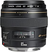 Canon EF 85mm f/1.8 USM Medium Telephoto Lens for Canon SLR Cameras - Fixed (Renewed)