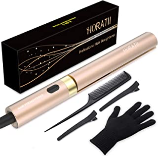 Hair Straightener and Curling Iron 2 in 1 for Hair Styling, Tourmaline Ceramic Flat Iron for All Hair Types Real-Time Temperature Display 2019 Latest Professional Version (GOLD)