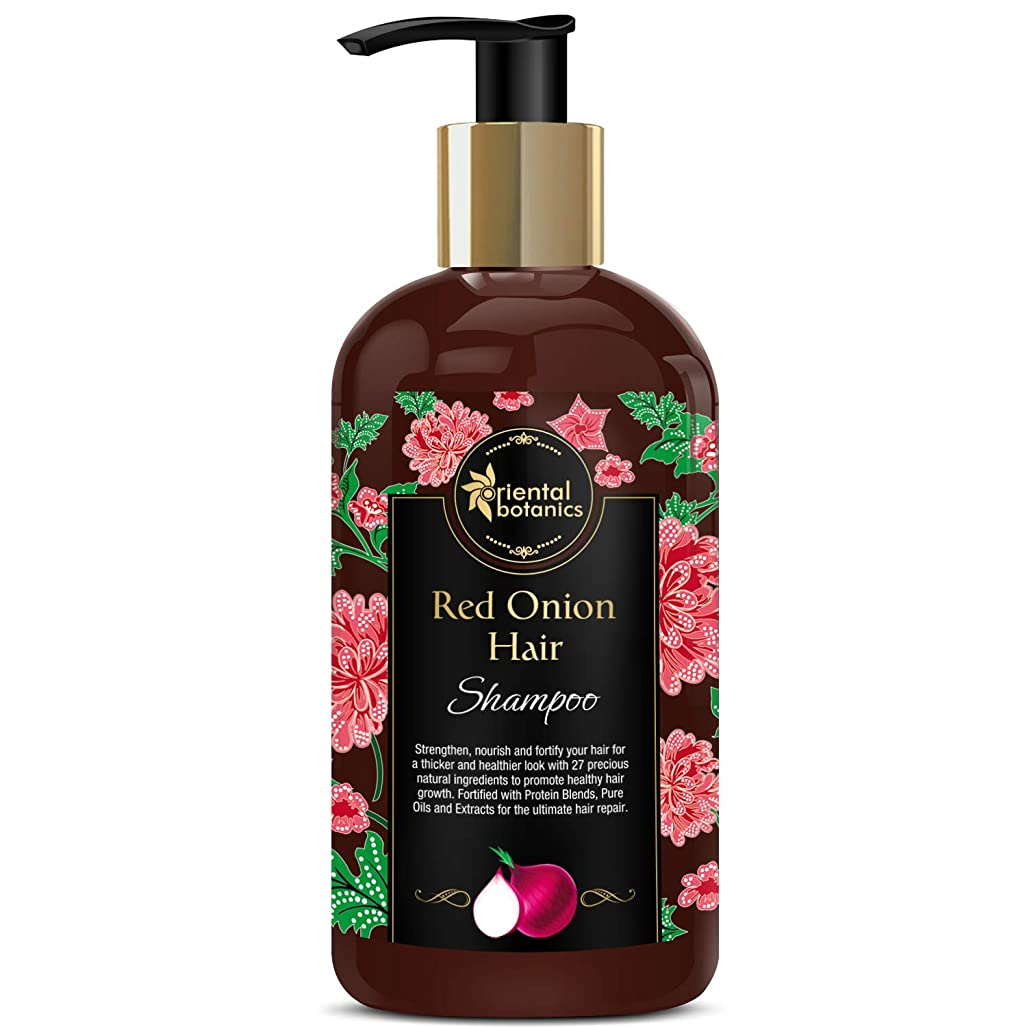 これまで嘆く盟主Oriental Botanics Red Onion Hair Growth Shampoo, 300ml - With 27 Hair Boosters Controls Hair Loss & Promotes Healthy Hair Growth