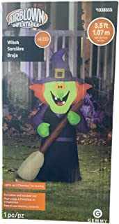 Gemmy 3.5ft Airblown Inflatable Witch with Broom