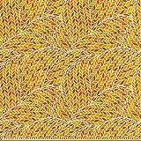 ABAKUHAUS Erdfarben Stoff als Meterware, Herbst Blatt