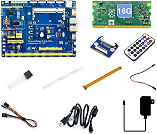 Waveshare Raspberry Pi Compute Module 3+/16GB Development Kit Type A CM3+ IO Board DS18B20 IR Remote Controller