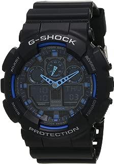 Casio Sport Watch Analog-Digital Display For Men Ga100-1A2, Black