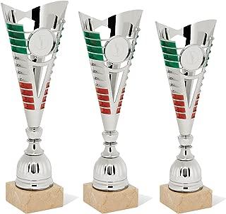 tecnocoppe Targa in Alluminio con Decoro Tricolore e Stampa Personalizzata 16x12 cm in Astuccio 23x19 cm