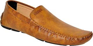 Lee Fox Genuine LeatherTan Colored Loafer for Men's (LF_554 TAN_Loafer)