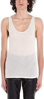 SAINT LAURENT Luxury Fashion Mens 507951YB2OZ9502 White Tank Top |