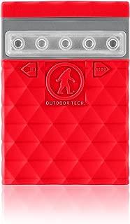 Outdoor Tech OT2700 Kodiak Mini 2.0-2600 mAh Ruggedized Waterproof Portable Charger/External Battery (Red)