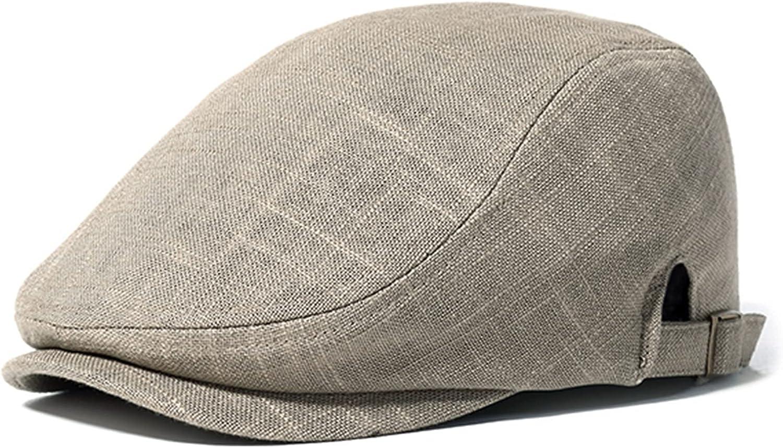store Men Linen Solid Beret Caps Outdoor Adjustable Sunshade Casual supreme Vi