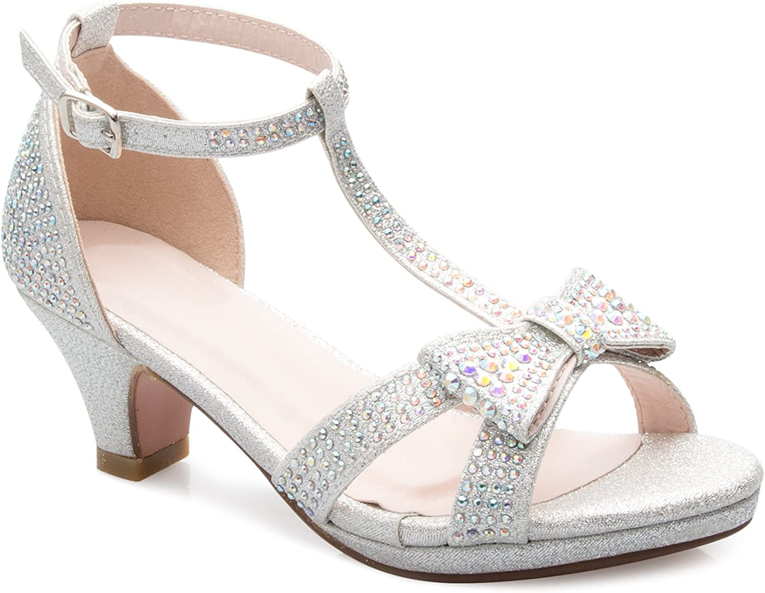 Max 52% OFF Sales results No. 1 OLIVIA K Girl's Glitter Leatherette Open Toe T Str Ankle Strappy
