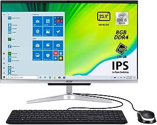 Acer aspire computer fisso all in one, intel core i5-1035g1,Intel UHD  Ram 8 GB DDR4, SSD 256 GB M.2 PCIE C24-963