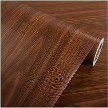 Wallpaper PVC Wood-grain Wallpaper, Peeling and Pasting Self-adhesive Wallpaper, DIY Decorative Stickers for Walls/Furnitu...