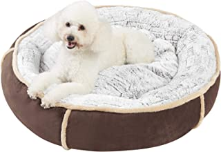 BingoPaw Waterproof Donut Dog bed, Plush Dog Bed Machine Washable with Removable Cover 31inch