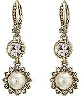 Marchesa - Pearl Double Drop Earrings