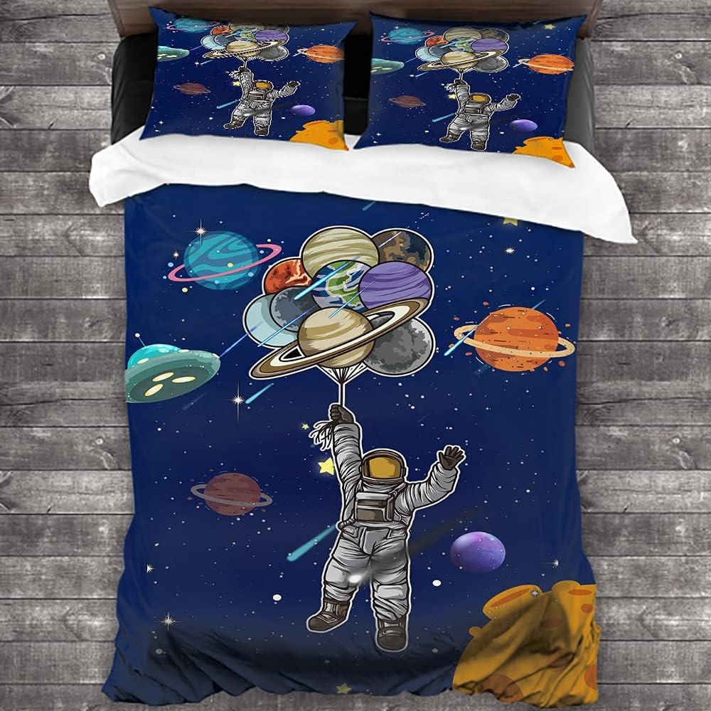 fucyBu Cartoon Space Astronaut Balloon Low price Limited price sale Bedding 3 Kids Duve Piece