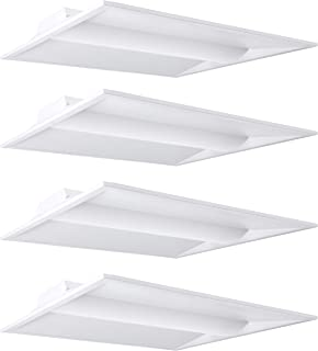 Hyperikon 2x2 Foot LED Light Dimmable, 20W, Recessed Panel Light Fixture, 5000K, Troffer Panel, UL, DLC, 4 Pack