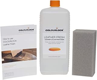 Colourlock Leather Fresh Dye DIY Repair Colour Restorer for Scuffs and Small Cracks on car interiors 1 Litre Compatible with BMW Chestnut Brown