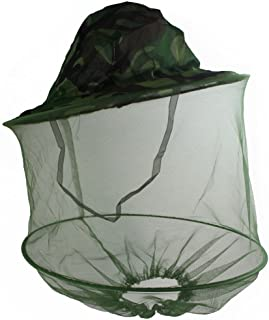 Mosquito Head Net Hat,Bee Keeper Hats Quick Dry Bucket Sun Hat with Net Mesh for Men & Women,Jungle Face Mask Protection f...