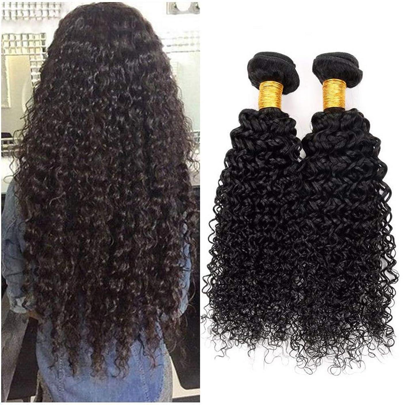 埋める折り目免疫する女性の髪織り8Aブラジル変態カーリーヘアバンドルブラジル髪カーリー人間の髪バンドル1バンドルナチュラルカラー(100 +/- 5g)/ pc