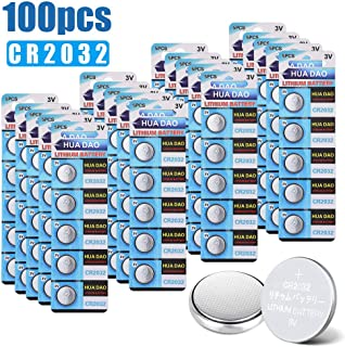 BIUBLE CR2032 Lithium Button Battery, 200mAh 3 Volt Coin Battery, Coin Button Cell 100 PCS in Original Package