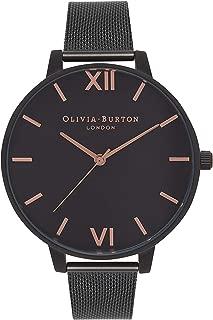 Olivia Burton Women's Black Dial Metal Band Watch - OB15BD83