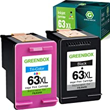 $41 » GREENBOX Remanufactured Ink Cartridge Replacement for HP 63 63XL for Envy 4520 4512 4513 4516 OfficeJet 3830 5255 5258 Des...
