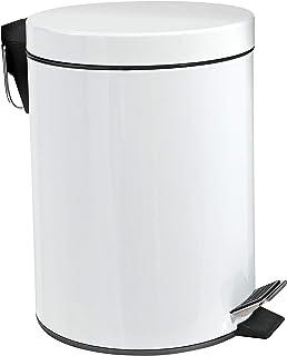 ih casadecor Round TIN Step BIN 3L (White) Trash can,