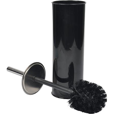 Douceur d'Intérieur 6ASB221NR Brosse WC Métal Noir 9,5 x 9,5 x 26,5 cm