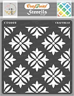 CrafTreat Stencil - Tuberose | Reusable Painting Template for Art and Craft, Mixed Media, Wall Painting, Home Decor, DIY A...