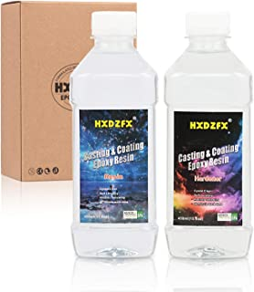 HXDZFX Epoxy Resin Coating 33.1oz Kit Crystal Clear Resin, for Table Tops, Bars, Wood finishes, See Through Encapsulations, Art Work