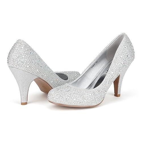 5253b57b928 DREAM PAIRS ARPEL Berry Women s Formal Evening Dance Rhinestones Classic Low  Heel Pumps Shoes New