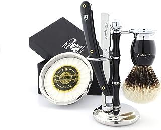 Klasyczny zestaw do golenia dla mężczyzn z ciętym gardłem maszynka do golenia szczotka do golenia ze stali nierdzewnej mis...