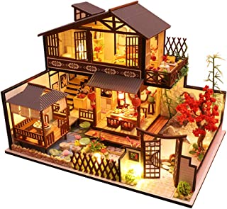 CUTEBEE Dollhouse Miniature with Furniture, DIY Wooden Dollhouse Kit Plus Dust Proof and Music Movement, 1:24 Scale Creative Room Idea(Forest Habitat)