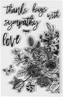 Spellbinders STP-012 Clear Acrylic Stamps-Floral Love