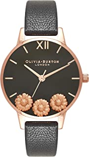 Olivia Burton Womens Quartz Watch, Analog Display and Leather Strap OB16CH05