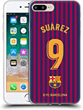 Official FC Barcelona Luis Suárez 2018/19 Players Home Kit Group 1 Soft Gel Case Compatible for iPhone 7 Plus/iPhone 8 Plus