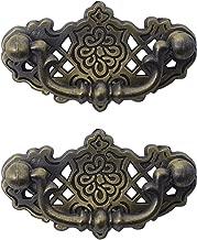 color bronce envejecido agujero central de 54 mm estilo vintage Probrico Tiradores de caj/ón para armario de cocina