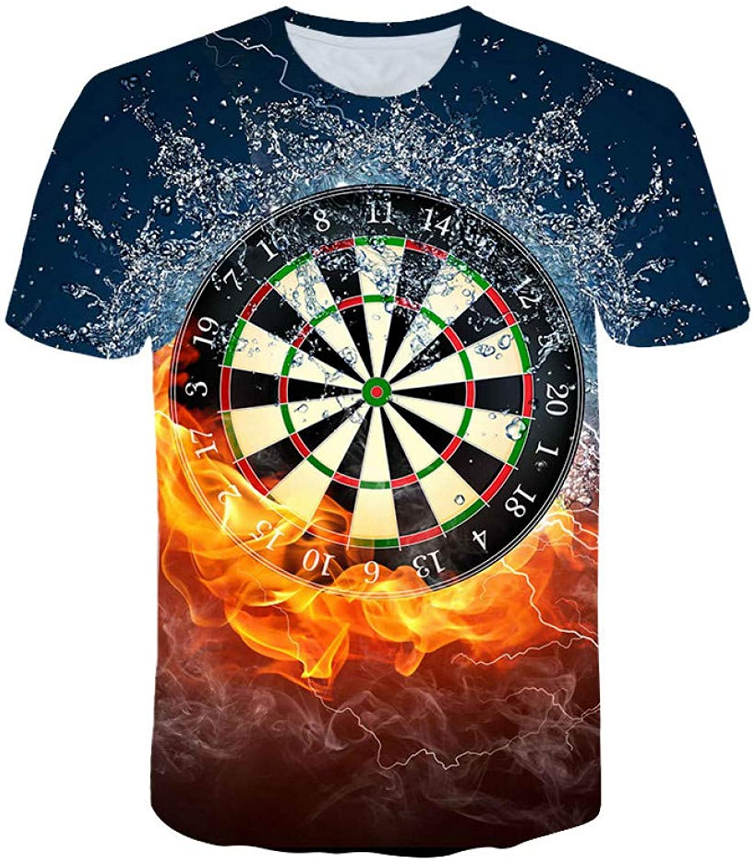 DUXIGJCD Best 3D T Shirts Dart Board TShirt Darts Throw Game Graphic Tee T Shirts Short Sleeve Designer Shirts