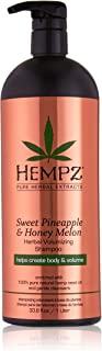 Hempz Sweet Pineapple and Honey Melon Herbal Volumizing Shampoo, 33.8 oz. - Natural Thickening and Repair Product for Women with Color Treated and Fine Hair, Restorative Shampoos with Volume