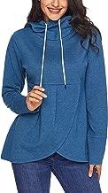 Krissry Women Casual Long Sleeve Loose Fit Drawstring Hoodie Sweatshirt Outwear Tops Blouse