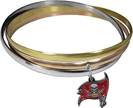 NFL Tampa Bay Buccaneers Womens Tri-color Bangle Bracelet