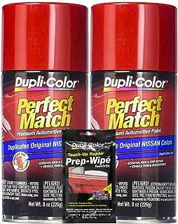 Sherwin-Williams Company Dupli-Color Aztec Red Exact-Match Automotive Paint - 8 oz, Bundles Prep Wipe (3 Items)