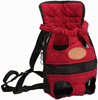 littlepiggy Fashion Dog Carriers Red Travel Breathable Soft Pet Dog Backpack Outdoor Puppy Chihuahua Small Dog Shoulder Handle Bags S M L XL