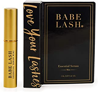 Babe Lash Eyelash & Brow Enhancer Serum for Natural, Fuller & Longer Looking Eyelashes - Eyelash Booster Hydrates Lashes - Used on Lash, Brow & Lash Extensions - 0.03 Fl Oz