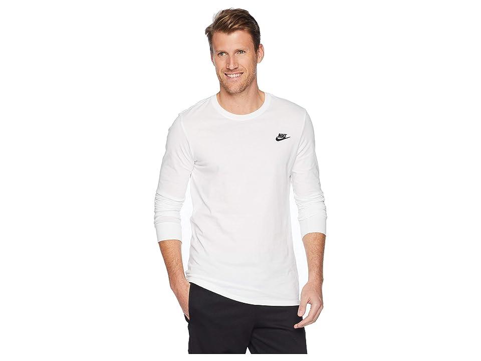 Nike NSW Tee Long Sleeve Embroided Futura (White/Black) Men